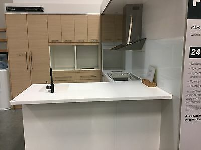Top Quality kitchen benchtop kitchenette sink built in Laundry bar $3500+ white