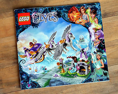 INSTRUCTIONS Manual (ONLY) LEGO Elves 41077 Aira's Pegasus Sleigh Booklet NEW