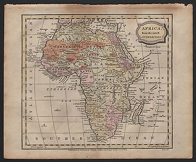 1806 Antique H/col Map - Africa From The Latest Authorities