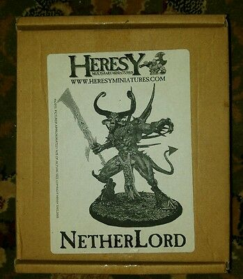 heresy miniatures Netherlord mk1 rare untouched boxed model