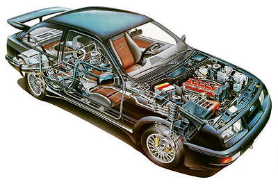 Ford Sierra RS Cosworth large Cutaway promo poster