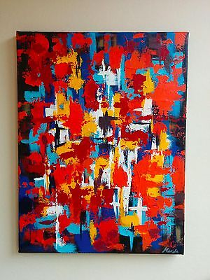 Modern Abstract Acrylic Painting on stretched canvas- Original artwork