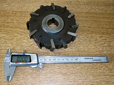 """Side and face milling cutter, Dormer A1 Supreme 5"""" diameter x 1"""" wide, 1"""" bore"""