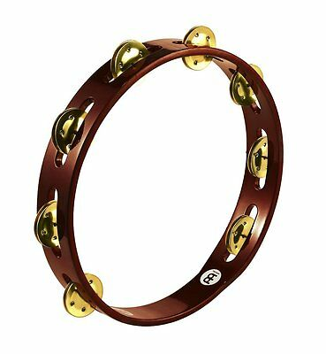 Meinl Percussion Traditional 10-Inch Wood Tambourine w/ Single Row Brass Jingles