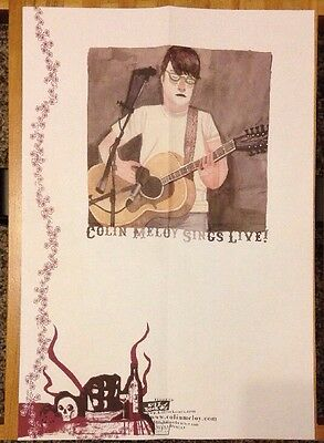 """COLIN MELOY Sings Live Promotional Poster 13"""" X 19"""" Decemberists Kill Rock Stars"""