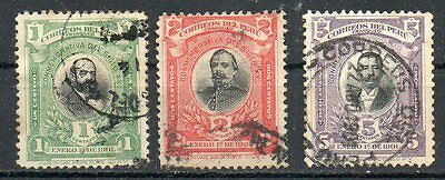 PERU 1901 - Advent of 20th century. 3 values used.