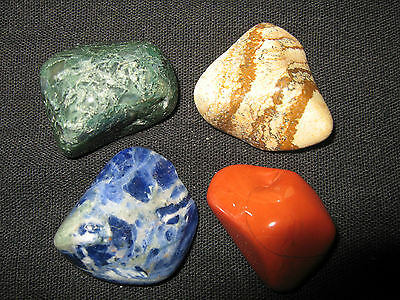 Pagan/Wiccan Altar Elements/Quarters Set/Kit, Pack of 4 Crystals Included (QS4)