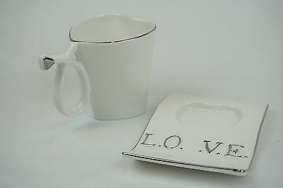 Tea Set Heart Shaped Cup And Saucer Gift Set 6cups 6saucers