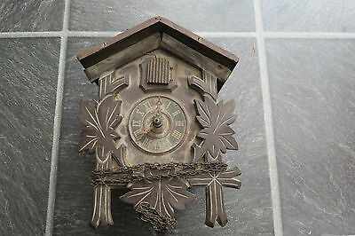 Vintage Black Forest H Eule Cuckoo Clock For Spares Repair
