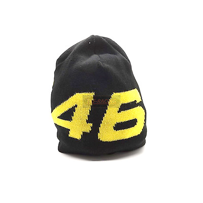 Moto Gp Official Vr46 Valentino Rossi Adult Winter Beanie Hat Warm Racing Black