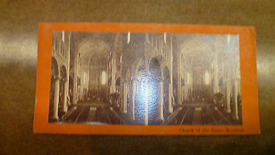Antique Stereoscope Card By 'field' Of Montreal 'church Of The Gesu Montreal'