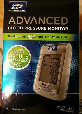 Boots Pharmaceuticals Advanced Blood Pressure Monitor Upper Arm Unit New