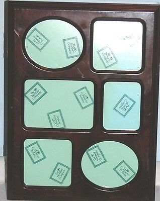 Bombay Large Mahogany Wooden Box with Six Picture Frames Display