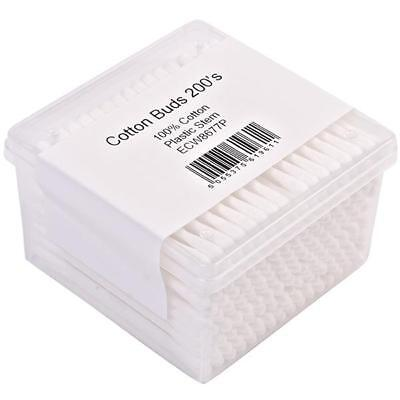 24 x Cotton Buds Plastic Stem - 200 pack