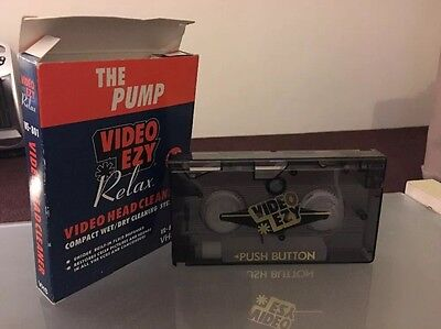 Video*Ezy - Video Head Cleaner (The Pump) Wet/Dry Cleaning System VHS TAPE VE