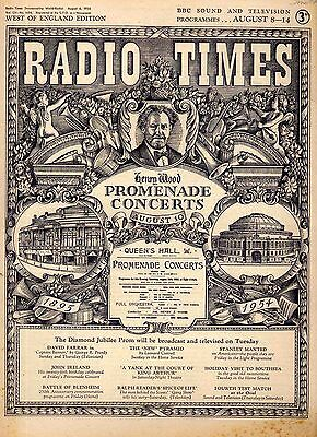 Radio Times 8 Aug 1954 . Proms Cover . Peter Cushing