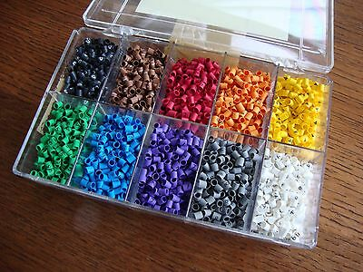 3000 pc HEATSHRINK CABLE MARKER KIT BOX COLOURED, CONTROL PANEL WIRE ELECTRICAL
