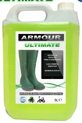 ARMOUR Ultimate Rubber Boot Cleaner 5L Wellies , Wellington, Footwear