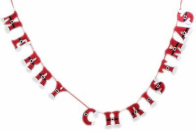 225cm Santa Suit Design Merry Christmas Bunting Banner Garland Party Decorations