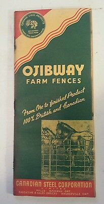 """Rare Canadian (Ojibway & Walkerville Ont)""""ojibway Farm Fences"""" Product Catalogue"""