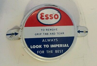 "Rare Excellent Used Canadian ""imperial Esso"" Barrel Bung Seal Cap(St Catherines)"