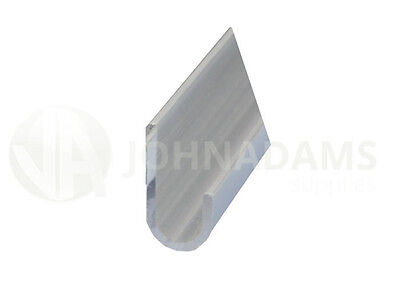 Aluminium J Section Gutter Moulding Metal Profile Extrusion Edging 2.5M Vehicle