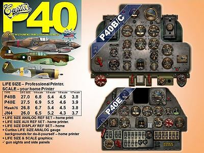 P40 CURTISS WARHAWK SERIES COCKPIT instrument panel CDkit SALE