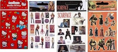 Fridge Magnets In Pack- You Choose Hannah Montana  Scarface,shrek2 ,hell0 Kitty