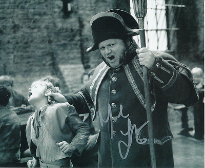 Mark Lester SIGNED photo with Harry Secombe - J680 - Oliver!
