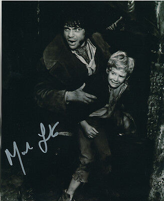 Mark Lester SIGNED photo with Oliver Reed - J693 - Oliver!