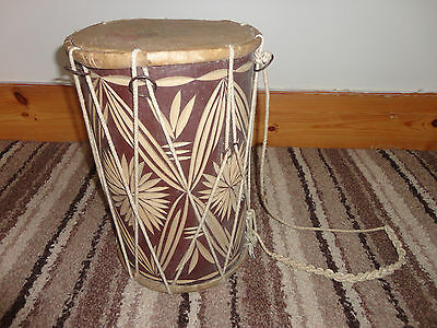 Indian Dholak Drum Tuneable Decorative Carving