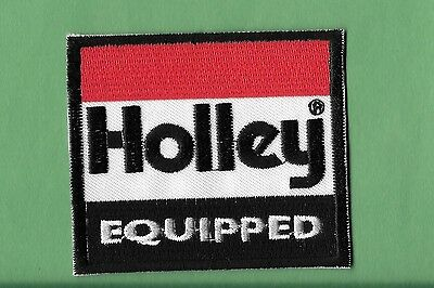 "New Holley   'Equipped'  2 1/2 X 3 "" Inch  Iron on Patch Free Shipping"