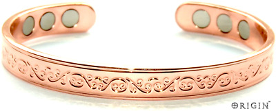 Copper Bracelet Arthritis  Bio Pain Relief Pattern Magnetic Bangle Unisex Scb667
