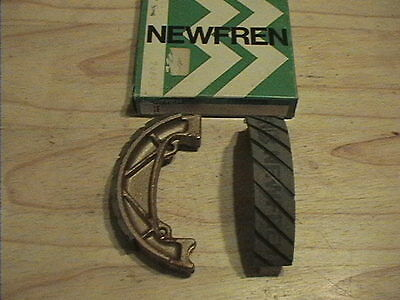 Fantic 125 241 300 Newfren Gf221 Grooved Brake Shoes  Pair Front & Rear New