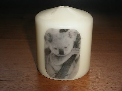 Candle Picture Koala Bear Can be Personalised Birthday Friends Mum Dad Love New