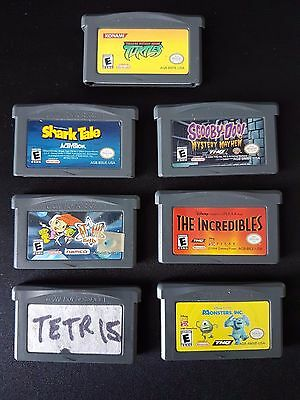 Lot of 7 GBA Gameboy Advance Games / TMNT / Tetris / Scooby Doo / MORE