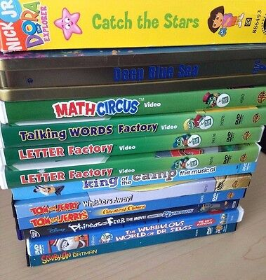 Lot 12 of Children Movies + Educational Shows *Great Titles *Great Condition
