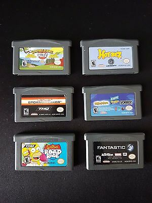 Lot of 6 GBA Gameboy Advance Games / Looney Tunes / Simpsons / Horsez / MORE