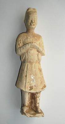 VERY EARLY CHINESE, SUI DYNASTY - Pottery Court Figure  AD 589 - 618
