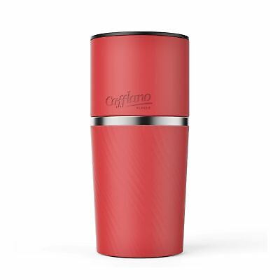 Cafflano Klassic- Portable All-in-One Pour Over Coffee Maker (Red)