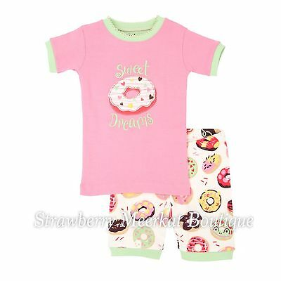 New SS17 Girls Hatley Sweet Donuts Short Pyjama Pajamas PJs 5 6