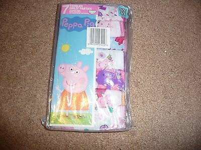 Peppa Pig Underwear Underpants 7 Pair Panty Pk Girls Size 4T NEW NWT