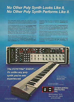 1983 Voyetra Eight Synthesizer Keyboard 8x11 photo advert Ad