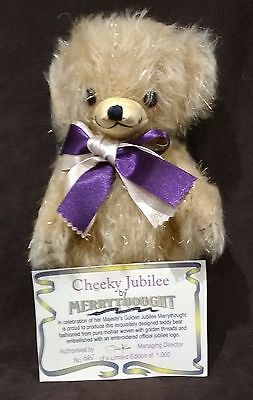 Merrythought Cheeky Jubilee Teddy Bear 2002 - No 685 Of 1000 - New In Box & Cert