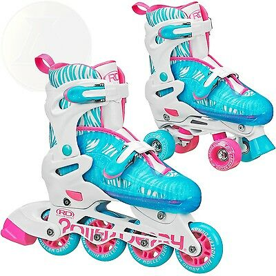 Roller Derby Rd 2N1 Inline/Quad Skates Combo Girl New Free Shipping