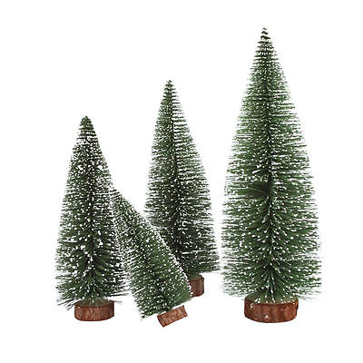 Mini Christmas Snow Tree Small Pine Tree Table Office Home Decoration Gift RS