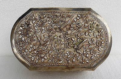CINA (China): Old Chinese silvered brass export repousse box