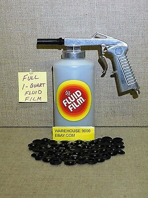 FF Spray gun with 1 Full Quart Fluid Film Undercoating & 100 plugs Cars Trucks