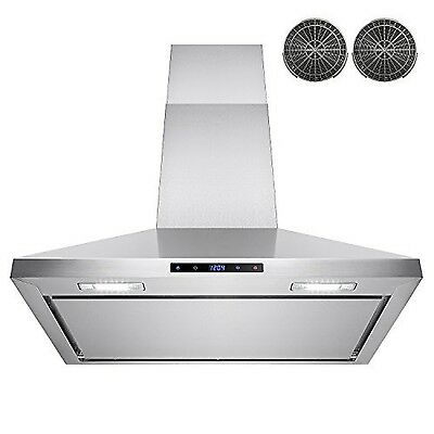 """AKDY 30"""" Wall Mount Stainless Steel Touch Control Kitchen Ductless Range Hood..."""