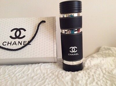 New Auth Rare!Chanel white cc logo Vip Gift Isothermal collectible water bottle.